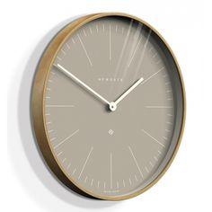 Newgate Clocks Mr Clarke Light Wood 53cm Wall Clock - Clay Grey