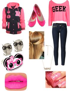 """""""Nerdy mood on the first day of middle school"""" by danebrandon ❤ liked on Polyvore"""