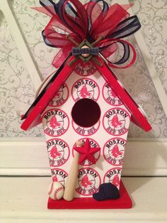 RESERVED for TRACII  Boston Red Sox by BirdhouseGiftGallery, $15.00