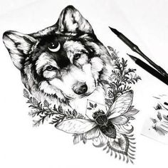 New Drawing Wolf Tattoo Thighs Ideas Neck Tattoos, Forearm Tattoos, Body Art Tattoos, Tattoo Drawings, Tattoo Thigh, Foot Tattoos, Tattoo Pics, Tattoo Sketches, Animal Thigh Tattoo