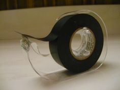 Modify a Scotch Tape Dispenser to Hold Electrical Tape. Geez, why didn't i think of that? Band Nerd, Drumline, Winter Guard, Tape Dispenser, Scotch Tape, Electrical Tape, Do It Yourself Home, Mind Blown, Life Hacks
