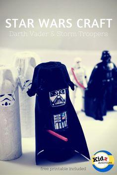 Star Wars Craft: Darth Vader and Storm Troopers - Kidz Activities