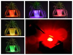 If do you have a favorite #color, you can change the color of your pot!  #LED #light #plastic #TechPOT