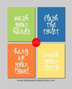 Printable Bathroom Signs For Kids Kids Bathroom Art Kids