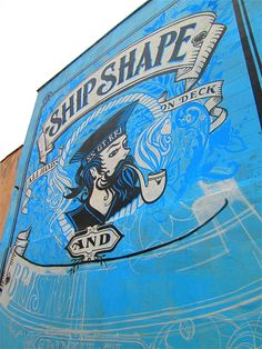 Almost ship shape and Bristol fashion....half finished street art in Bedminster