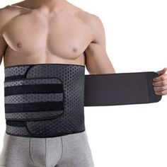 ZOHUMI Wasit Trimmer for Men, Neoprene Ab Belt Widening Waist Trainer with Double Adjusted Straps for Fitness Weight Loss and Back Support Crosstrainer Workout, Weight Lifting, Weight Loss, Lose Weight, Waist Trainer For Men, Ab Belt, Trimmer For Men, Halloween Costume Accessories, Improve Posture