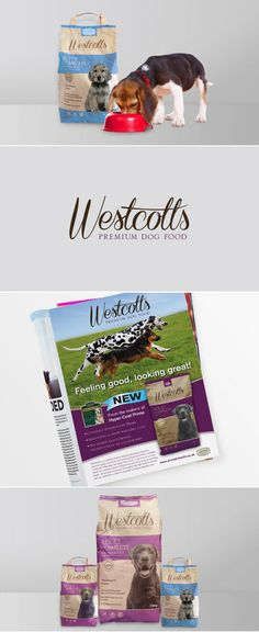 Westcott's - Dog food branding and packaging design. Created by Graphic Evidence