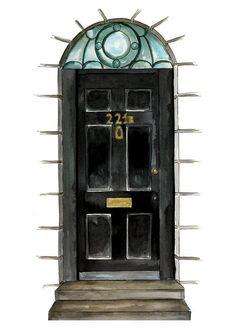 Where it all began. Sherlock John, Sherlock Holmes, Elementary My Dear Watson, Vatican Cameos, Mrs Hudson, Street Painting, 221b Baker Street, Johnlock, Martin Freeman