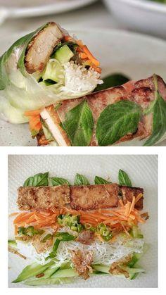 Vietnamese Summer Rolls, Tofu Marinade, Pork Buns, Steamed Buns, Healthy Comfort Food, Dim Sum, Dumplings, Sandwiches, Vegan Recipes