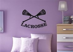 Lacrosse Wall Decal on Etsy, $42.99