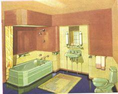 bathrooms in 1930 | 1930s bathroom design 350x279 0k jpeg b bathroom b designs onsugar com