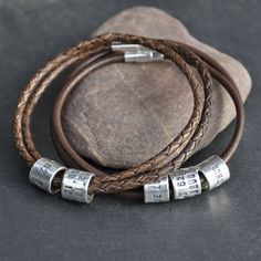 Such a unique idea...laditude/longitude story teller bracelet...love it!