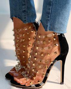 Stiletto Heels, High Heels, Fashion Sandals, Strap Heels, Strap Sandals, Ankle Strap, Hot Shoes, Womens Fashion Online, Designer Shoes