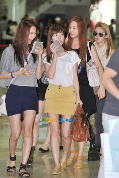 #YoonA #Jessica #Hyoyeon #Seohyun #SNSD #Fashion #Airport