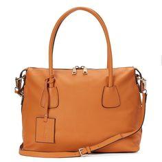 Donna Bella Colette Convertible Leather Satchel, Women's,