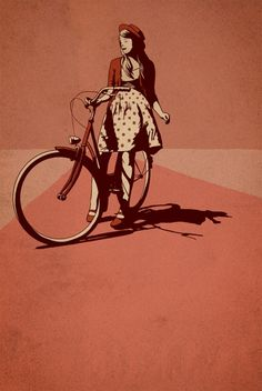 EscapeJournal | brain-food: Bikeillustrationsby tumblr artist...
