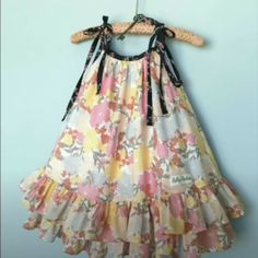 Girls Frock Design, Kids Frocks Design, Baby Frocks Designs, Baby Dress Design, Baby Girl Frocks, Frocks For Girls, Little Girl Dresses, Girls Dresses, Dresses Dresses