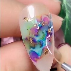 Start your week with a fresh set of colorful nails 😍✨ Cute Acrylic Nails, Pastel Nails, Gel Nail Art, Nail Art Diy, Diy Nails, Cute Nails, Sharpie Nail Art, Nail Ink, Nail Art Designs Videos