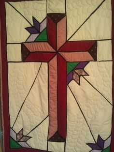 Stained Glass Cross   Stained Glass Cross ... by lindatemple   Quilting Pattern