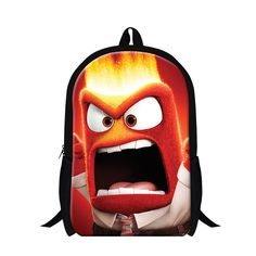2016 Hot Cute Childrens 3D Cartoon School Backpack Fashion Inside Out Happy School Bags For Teenagers Shoulder Book Bags