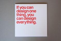 The Five Vignelli-isms   WANKEN - The Art & Design blog of Shelby White