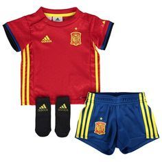 Adidas Spain Home Babykit 2016 Red AA0840 Spain Home Babykit 2016 - Red Support the reigning European Champions in their defence of the coveted Henri Delaunay Trophy with the Spain Home Babykit 2016 - Red. This official Spain baby kit uses ad http://www.MightGet.com/april-2017-2/adidas-spain-home-babykit-2016-red-aa0840.asp
