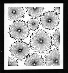 Circles of Life - original abstract dandelion ink drawing by Nanachoo - from etsy