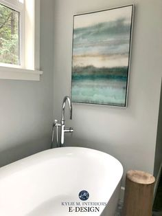 Blue Paint Colours: The 2 Types and Where They Work Best Spa Paint Colors, Best Bathroom Paint Colors, Best Gray Paint Color, Spa Colors, Bathroom Color Schemes, Relaxing Colors, Paint Colors For Home, Gray Color, Bathroom Colours