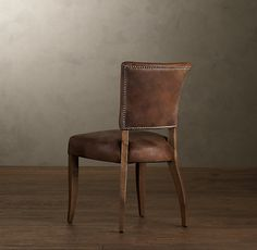 Perfect Adele Leather Dining Chair In Distressed Whiskey Part 31