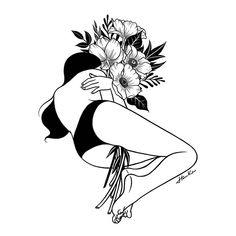 Amazing Surreal Black & White Illustration of Girls