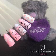 Baby Nail Art, Baby Girl Nails, Girls Nails, Girls Nail Designs, Nail Designs Spring, Nail Art Designs, Cute Acrylic Nails, Gel Nail Art, Cute Nails