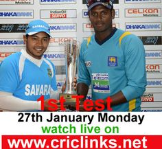 27th January,Monday 1st Test between Sri Lanka vs Bangladesh will be played at Mirpur...Match will be start at 8.30 AM PST.9.00 AM IST.Watch live action only on http://www.criclinks.net/ #SLvsBAN
