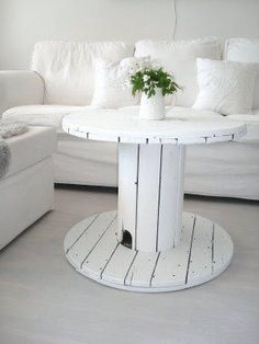 giant spool table - we're attempting a version of this for a college apartment