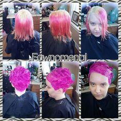 Anime hair....#magenta #pink #anime #hair