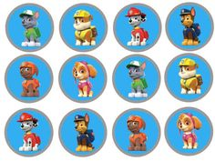 Blue Paw Patrol Cupcake Toppers