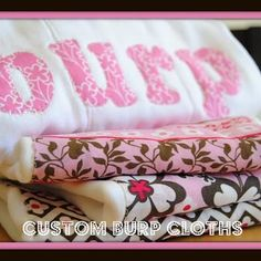 burp cloths tutorial