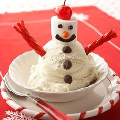 Frosty....definitely doing this  with the grandkids.  Sooooo simple and they'll think it's awesome.  :-)