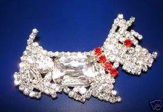 TERRIER Strassbrosche - Crystal - Exklusivmodell aus Gablonz/Böhmen