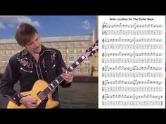 Guitar Exercise: Note Location String By String On The Guitar Neck by Guitar Lovers - YouTube