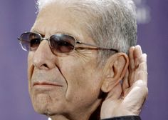 °lc° Leonard Cohen poses backstage at the Rock and Roll Hall of Fame Induction Ceremony, March after he was inducted in New York. Leonard Cohen, Round Sunglasses, Mens Sunglasses, Musical, Lady, A Good Man, Rock And Roll, Bring It On, Poses