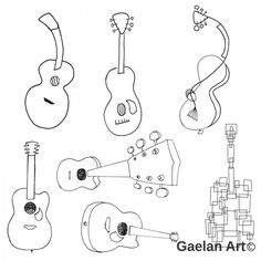 87 best drawings images pencil art sketches ideas for drawing POS Chikito Place to Stay in Aruba 7 vector drawings of guitars all drawn differently by angela krieg guitars guitar