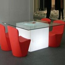 #Mobiliario de diseño Mesa iluminada Square