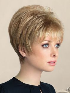 New Addition by Rene of Paris - Clip In Hair Enhancer Topper - Short Hair Styles Very Short Hair, Short Hair With Layers, Short Hair Cuts For Women, Short Hairstyles For Women, Bob Hairstyles, Hairstyle Names, Hairstyle Ideas, Easy Hairstyle, Pretty Hairstyles