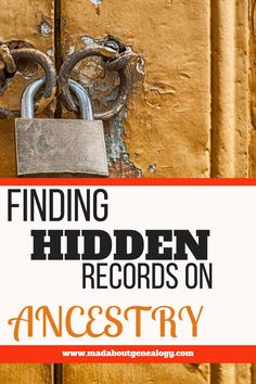 You want to get the best genealogy value out of your Ancestry subscription, but is your family history missing out by not knowing where all the records are? Do you know about the records that won't come up as hints and green leaves/ Do you know that some family history records aren't even indexed? Let me show you where this genealogy treasure is hiding!