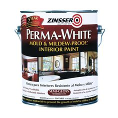 $28.99 (tintable)   Zinsser 1gal Mold & Mildew Proof Interior Paint in Satin White (2711) - Coatings - Ace Hardware