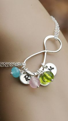 Infinity initial necklace. So pretty!