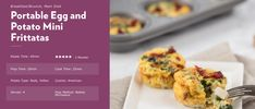 Potatoes fuel your workouts! Check out this amazing e-book by Potato Goodness that includes some of their most powerful and easy potato recipes to help fuel your busy body! Potato Nutrition, Mini Frittata, Easy Potato Recipes, Mashed Potatoes, Main Dishes, Workouts, Brunch, Baking, Book