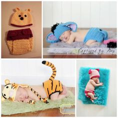 Crochet Winnie the Pooh hat and diaper cover, newborn photo prop, Winnie the Pooh Baby Shower, costume