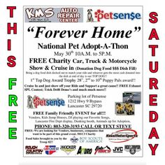"4x4 Meet!!  Then Mud Ride!! 9 Mile, Dick Hill and then the Rapids after   ""Forever Home"" National Pet Adopt-A-Thon   Car Crunch Photo Opp!!  May 30th 10A.M. to 5P.M.   Then Mud Ride!! 9 Mile, Dick Hill and then the Rapids after   FREE Charity Car, Truck & Motorcycle Show & Cruise in (Donation Dog Food $$$ Dish Fill) Bring a dog food dish decked out to match your ride and whoever gets the most cash donated into the dish at end of day is our TOP DOG!!   1st Top Dog Award Trophy 28"", 2nd to…"