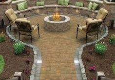 19 Impressive Outdoor Fire Pit Design Ideas For More Attractive Backyard Backyard Seating, Backyard Retreat, Fire Pit Backyard, Backyard Patio, Backyard Landscaping, Backyard Ideas, Backyard Designs, Patio Ideas, Firepit Ideas